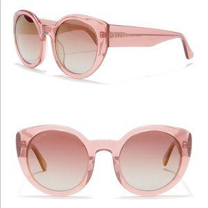Diff Luna Quartz Glitter 54mm Sunglasses polarized